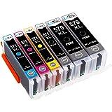 LxTek Compatible Replacement for Canon 570XL 571XL PGI-570XL CLI-571XL Ink Cartridges for Canon PIXMA MG5700 MG5750 MG5751 MG5752 MG5753 MG6800 MG6850 MG6851 MG6852 MG6853 TS5050 TS5051 TS5053 TS5055 TS6050 TS6051 TS6052 (6 Pack)