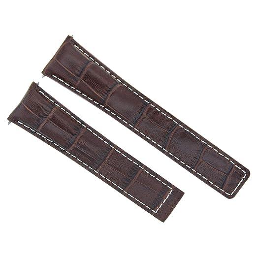 Correa de piel para reloj TAG HEUER Monza WR2110 19/16 mm marrón WS 6T de 19 mm: Amazon.es: Relojes
