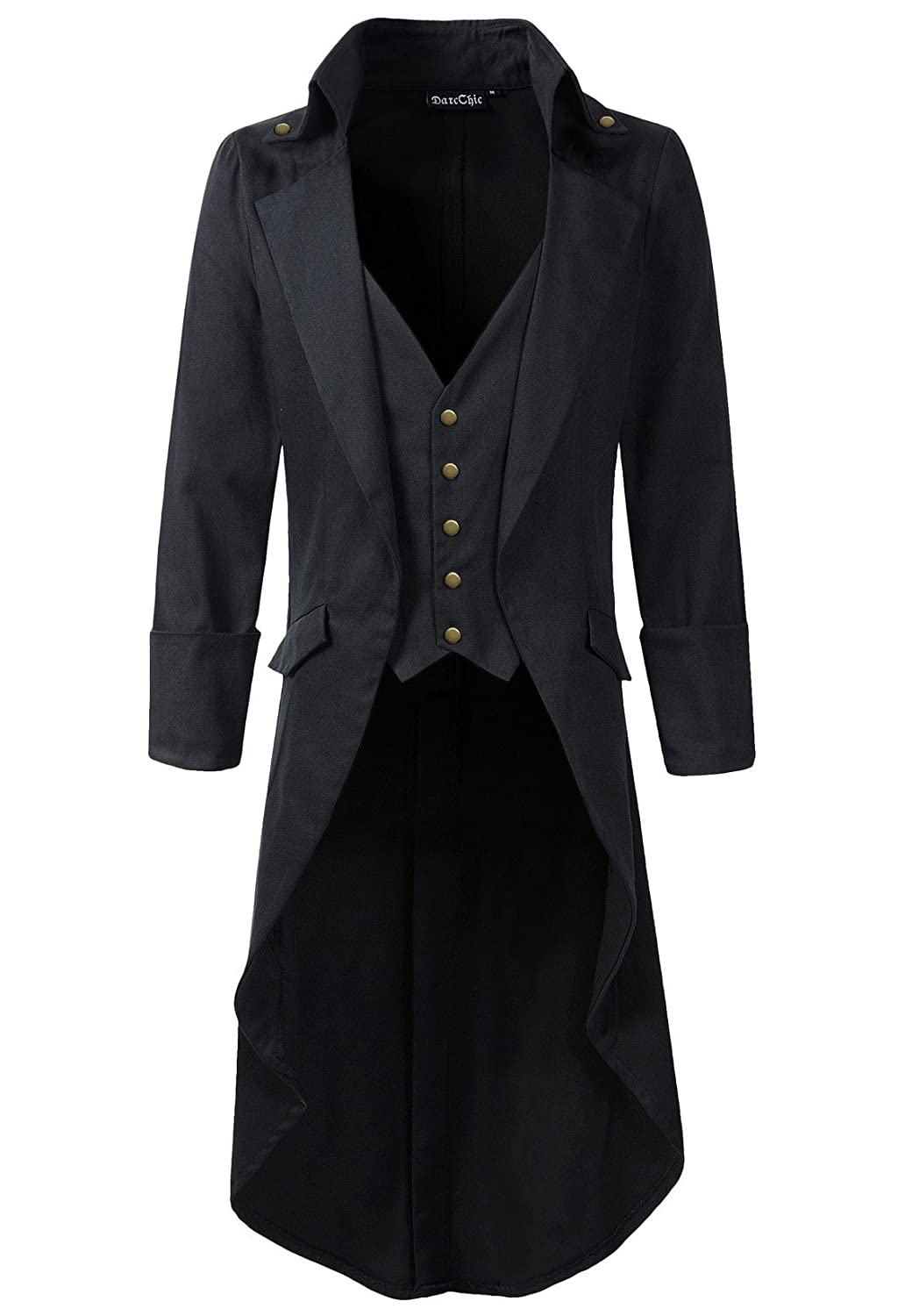 Men's Steampunk Clothing, Costumes, Fashion Mens Gothic Tailcoat Jacket Black Steampunk VTG Victorian High Collar Coat DarcChic Mens Gothic Tailcoat Jacket Black Steampunk VTG Victorian Coat $63.00 AT vintagedancer.com