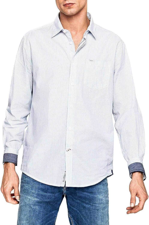 Pepe Jeans Camisa Dean Azul Hombre XXL Azul: Amazon.es: Ropa y accesorios