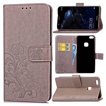 Guran® Funda de Cuero PU para Huawei P10 Lite Smartphone Función ...