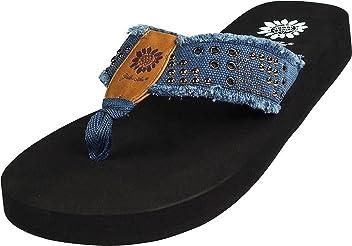 Yellow Box Womens Mojave Fashion Flip Flop Sandals