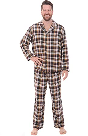 Del Rossa Men's Flannel Pajamas, Long Cotton Pj Set at Amazon ...