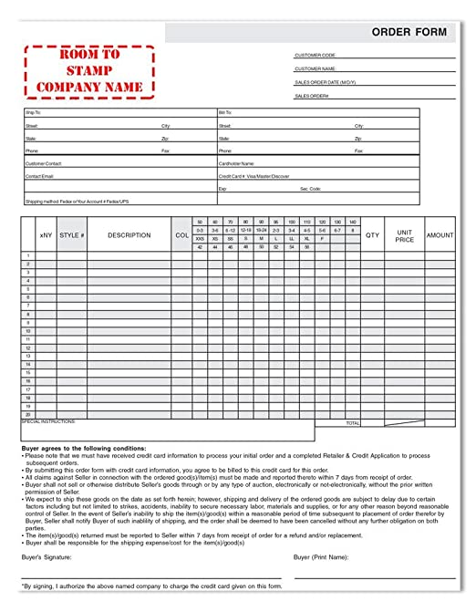 Amazon.com : Apparel Order Form : Blank Purchase Order Forms ... on order processing, order sheet, order time, order list, order symbol, order letter, order flow, order from walmart, order book, order of service, order number, order now, order of byte sizes, order pad, order template, order paper, order of reaction, order of the spur certificate, order button, order management,