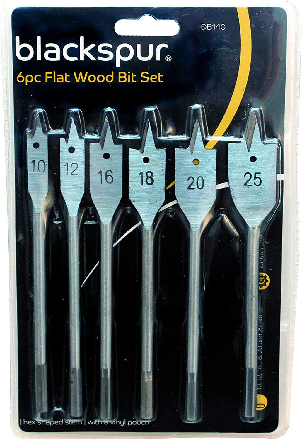 40 Assorted flat drill bits Wood drills