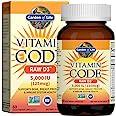 Garden of Life Vitamin D, Vitamin Code Raw D3, Vitamin D 5,000 IU, Raw Whole Food Vitamin D Supplements with Chlorella, Fruit