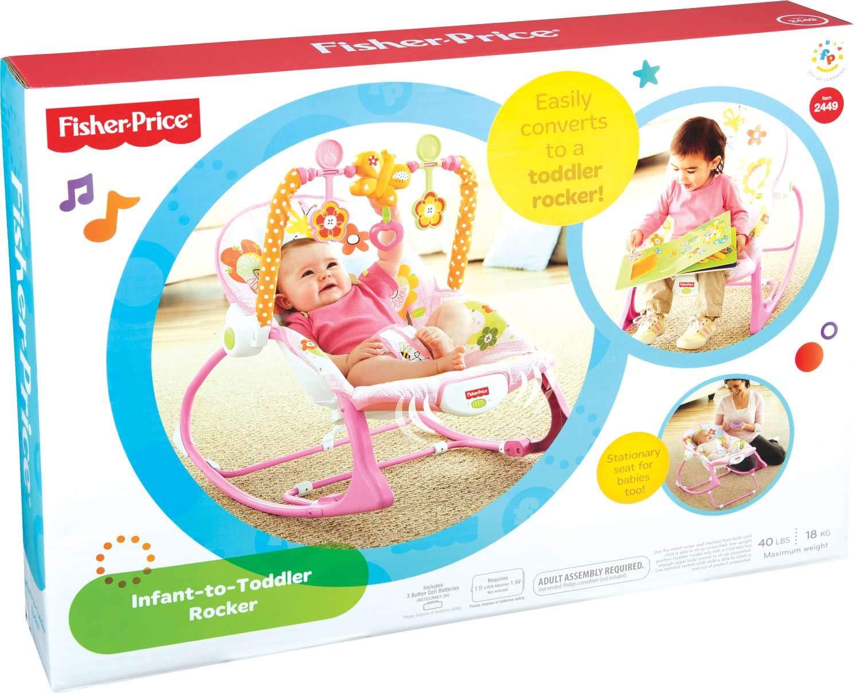 Mecedora Fisher-Price para beb/és negro conejito Talla:talla /única