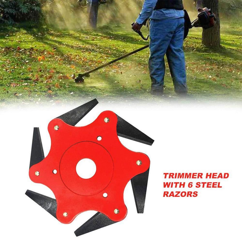 U/&X Trimmer Head 6 Steel Grass Trimmer Replacement Head Lawn Mower Grass Cutting Machine Replacement parts