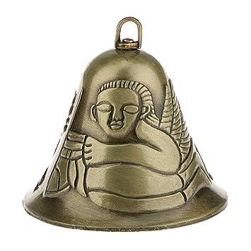 Decoración Mini Viento Carillón Feng Shui Ángel Metal Suerte Campana