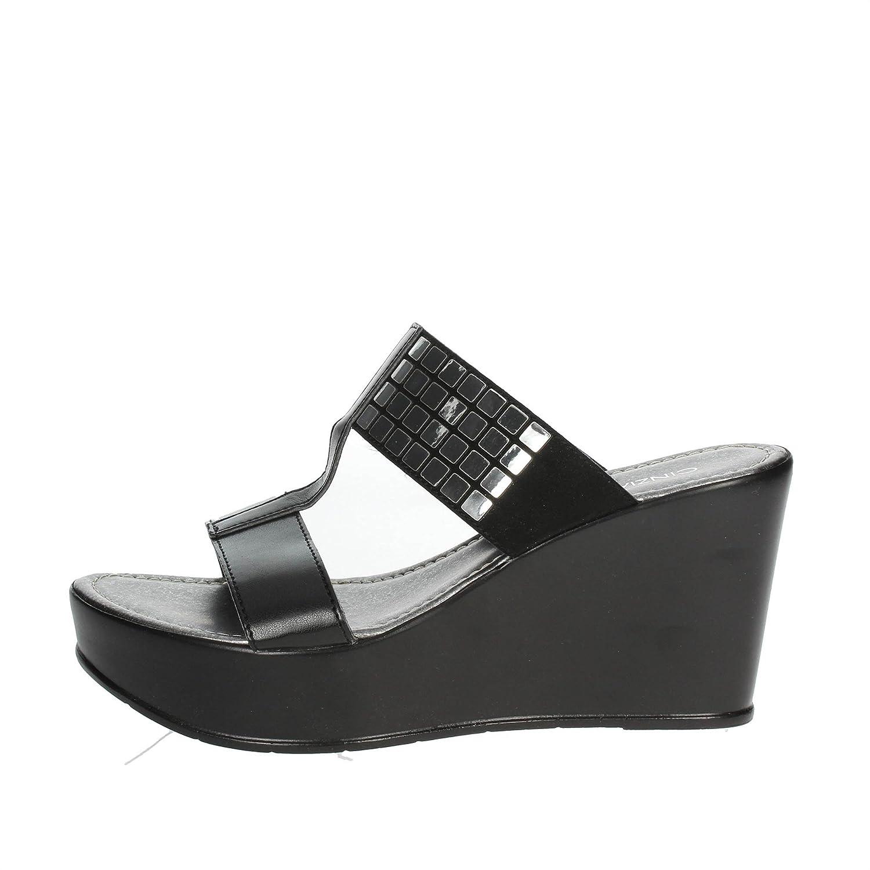 Cinzia Soft IAD18874002 Mules Femme Noir Noir - Chaussures Mules Femme