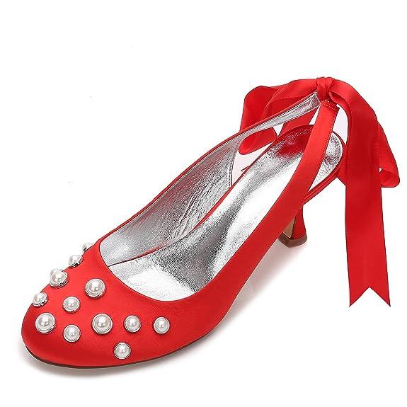 Femmes Chaussures Mariage High E17061 20 Satin Elegant De Pour Shoes wxfAg1Uq