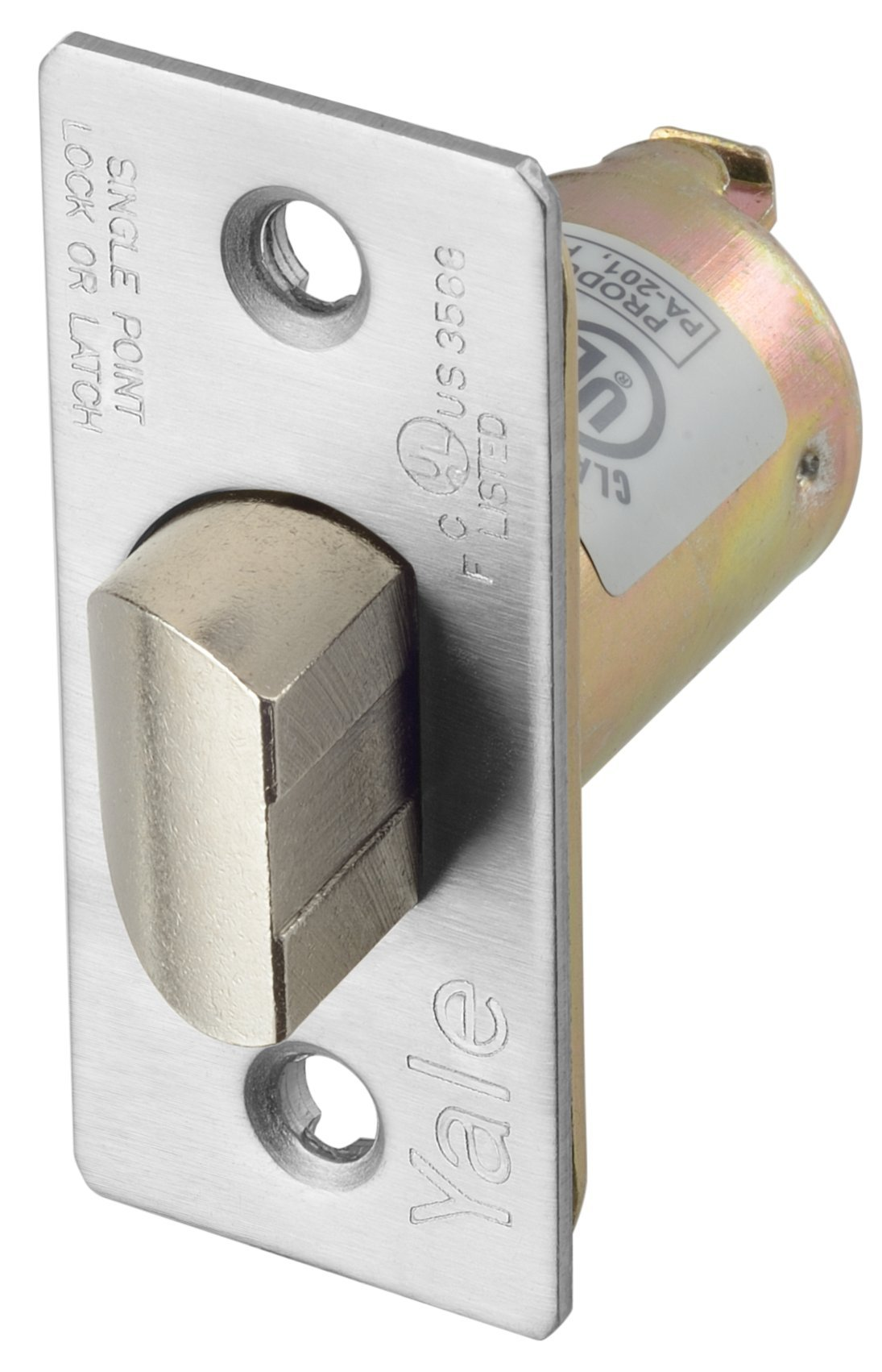 Yale MCP238 PLLTCH 2-3/8 X 626 Latch Bolt, Plain Latching, 2 3/8'' Backset, 626 Satin Chrome