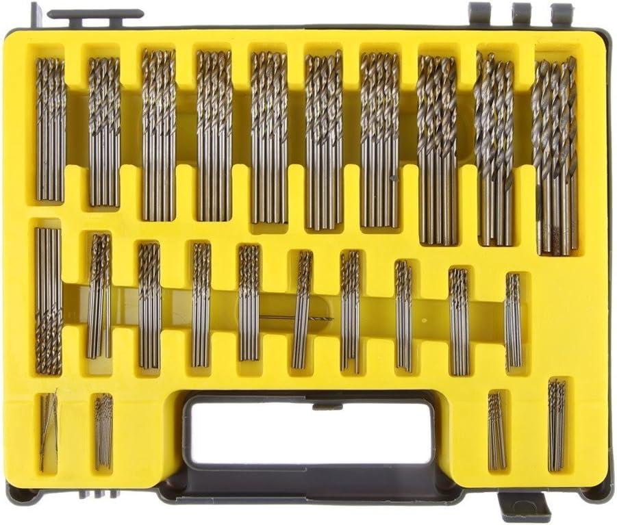 150/pcs//lot 0.4/Mm-3.2/mm Precision Micro Bits de 25/forets h/élico/ïdaux Mini HSS forets avec /étui