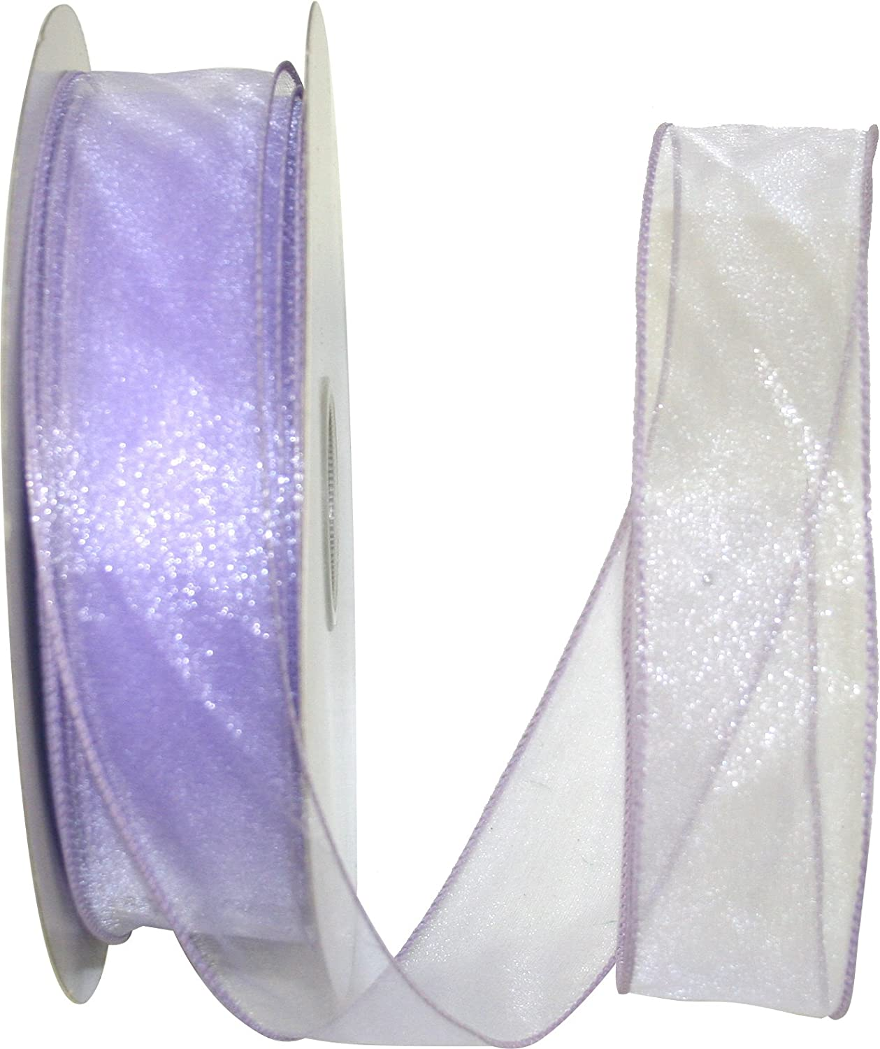 1-1//2 Inch X 50 Yards Reliant Ribbon 99908W-810-09K Sheer Lovely Value Wired Edge Ribbon Ivory