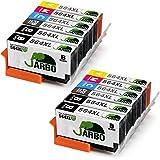 JARBO 5 Color Compatible Ink Cartridge Replacement for 564XL 2 Sets+2 Black for Photosmart 5520 6520 7520 5510 6510 7510 7525 B8550 C6380 D7560 Premium C309A C410A Officejet 4620 Deskjet 3520