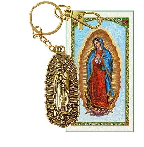 Amazon.com: Virgen de Guadalupe Llavero de Acero Laminado en ...