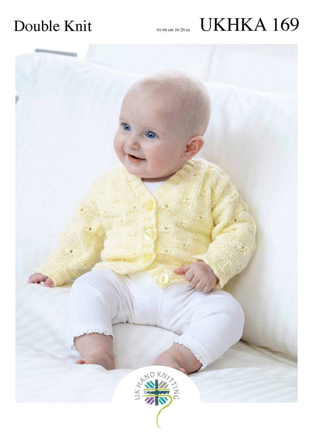 a2947337b Double Knitting Pattern for Baby Lace Cardigans Round V Neck or ...