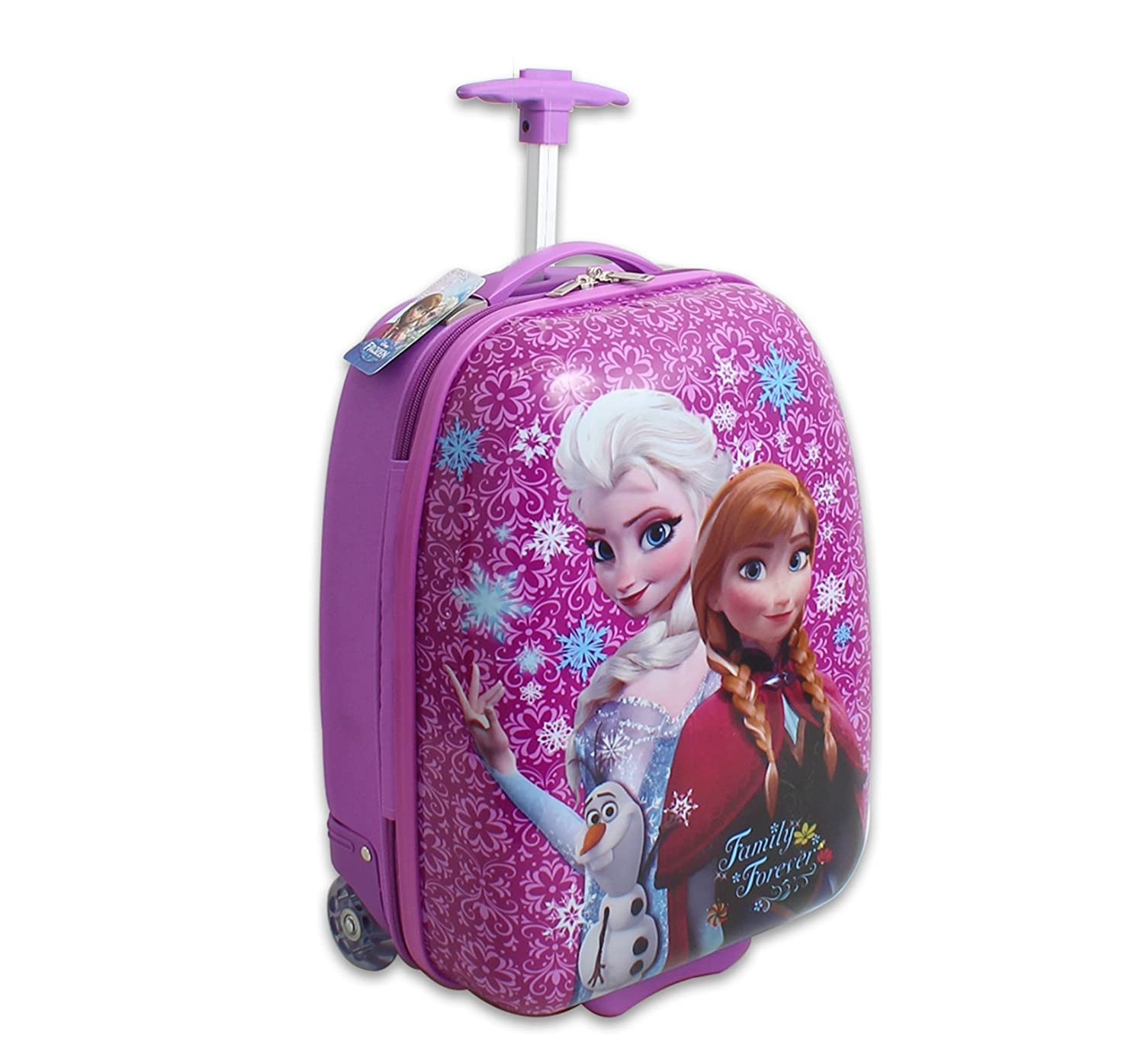 Amazon.com | Disney Frozen Hard Shell Pilot Case Luggage, Pink ...