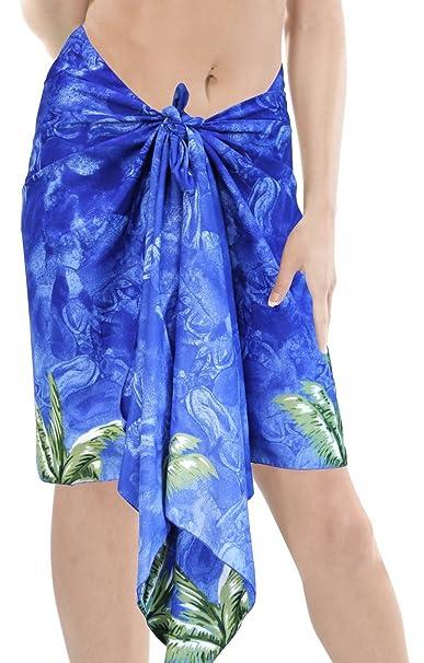 9aa64faabd LA LEELA Likre Aloha Party Wrap Surf Women Sarong Printed 78