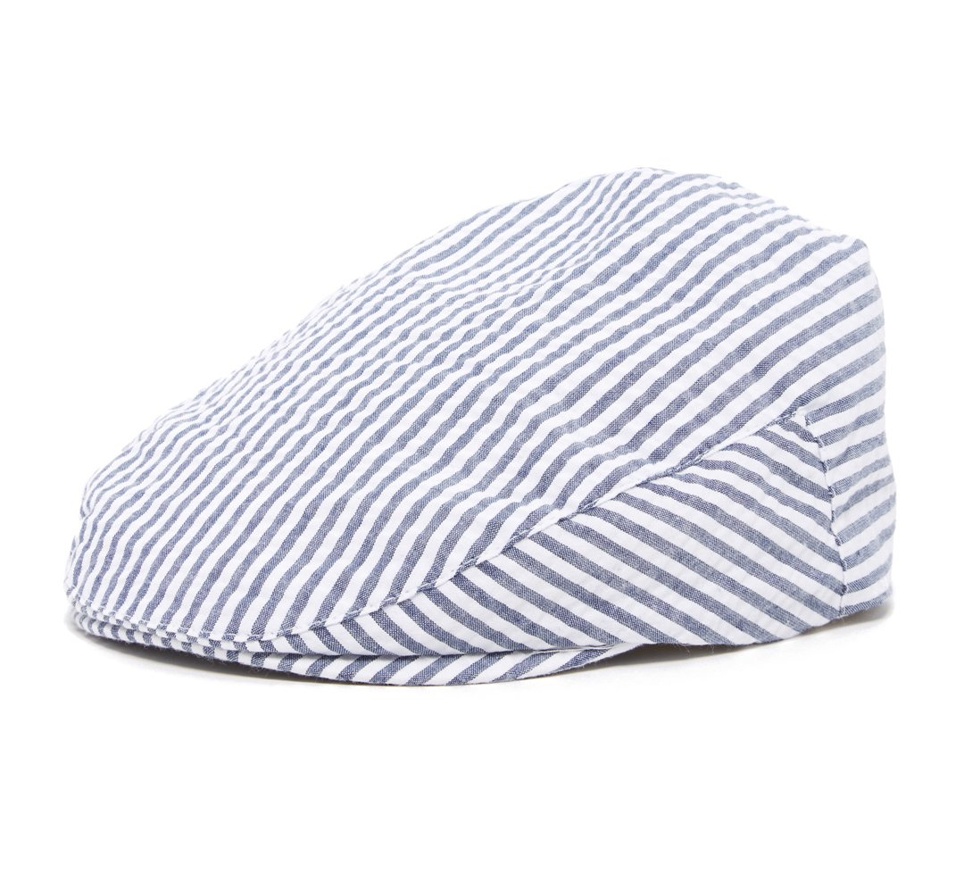 Navy and White Stripe Baby Toddler Caps XXS 46 cm 6 to 12m, Navy Driver by Born to Love