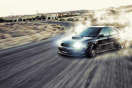 Amazon.com: Subaru Impreza WRX Drift Car Poster 20x30: Posters & Prints