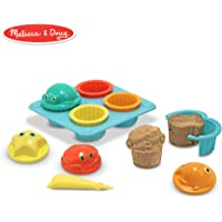 Melissa & Doug Sunny Patch Seaside Sidekicks Sand Cupcake Play Set (Beach and Sandbox Toy, 12 Pieces)