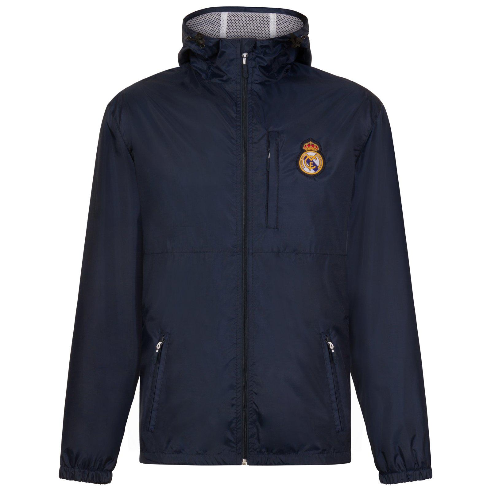 Real Madrid Official Football Gift Mens Shower Jacket Windbreaker Small