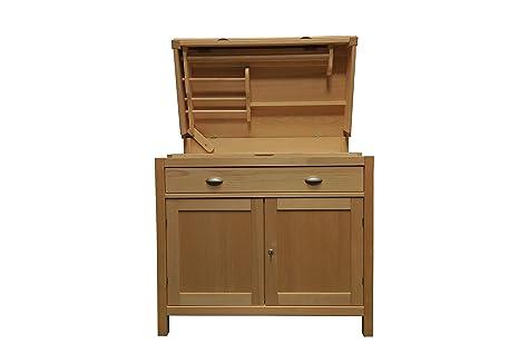 Sistemi componibili mobile cassettiera in legno grezzo mobiletto