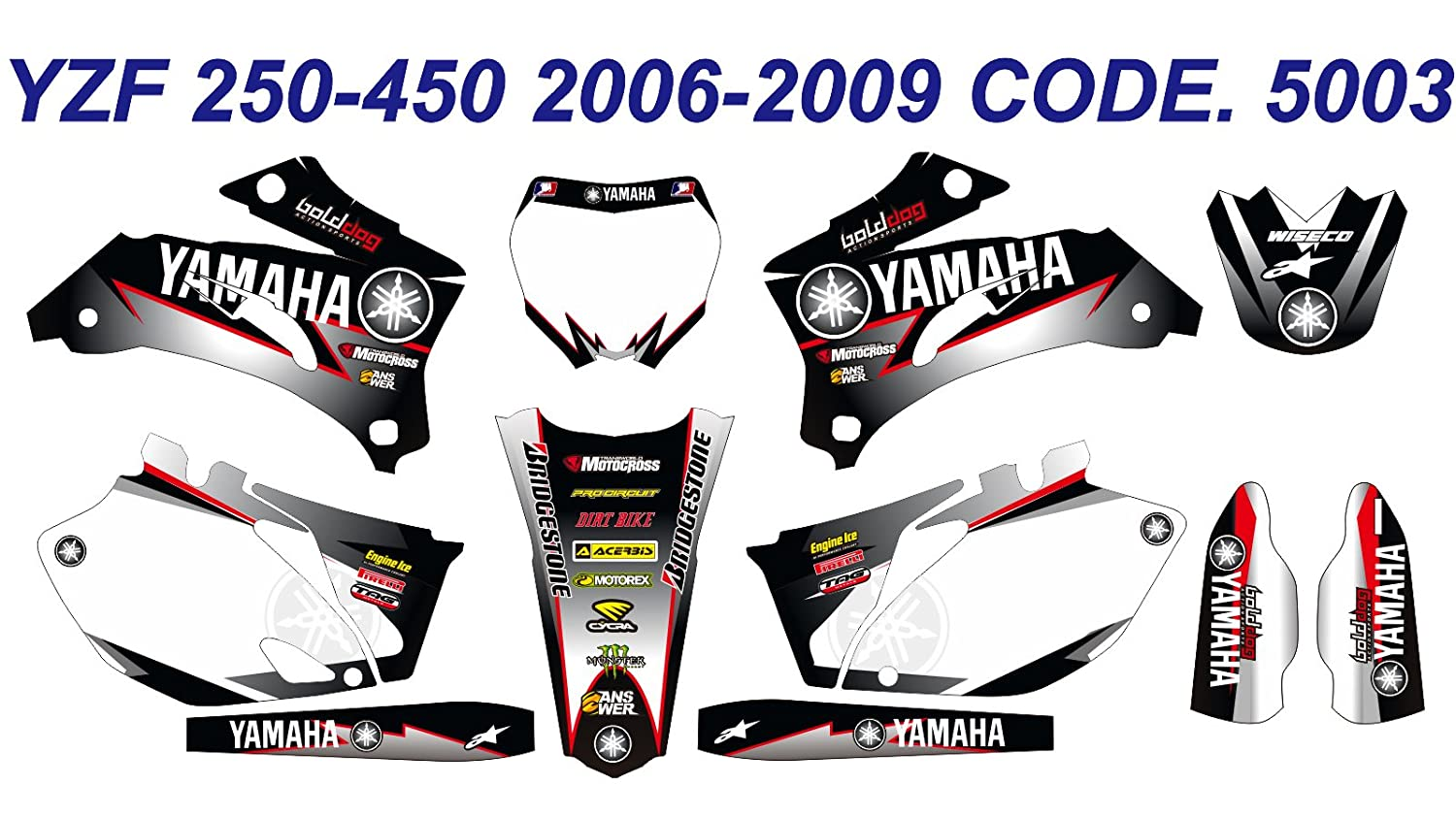 5003 YAMAHA YZ250F YZ450F 2006-2009 06-09 DECALS STICKERS GRAPHICS KIT Dog Racing Design