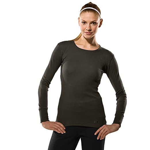 3f12d8ca Under Armour Women's Waffle Longsleeve Crew Neck Tops at Amazon ...