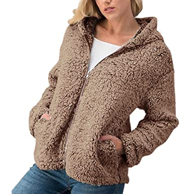 Manteau d Hiver Femme, Honestyi Pardessus Mode Femmes Hiver Casual Chaud à  Capuche Veste bcad25d38c46