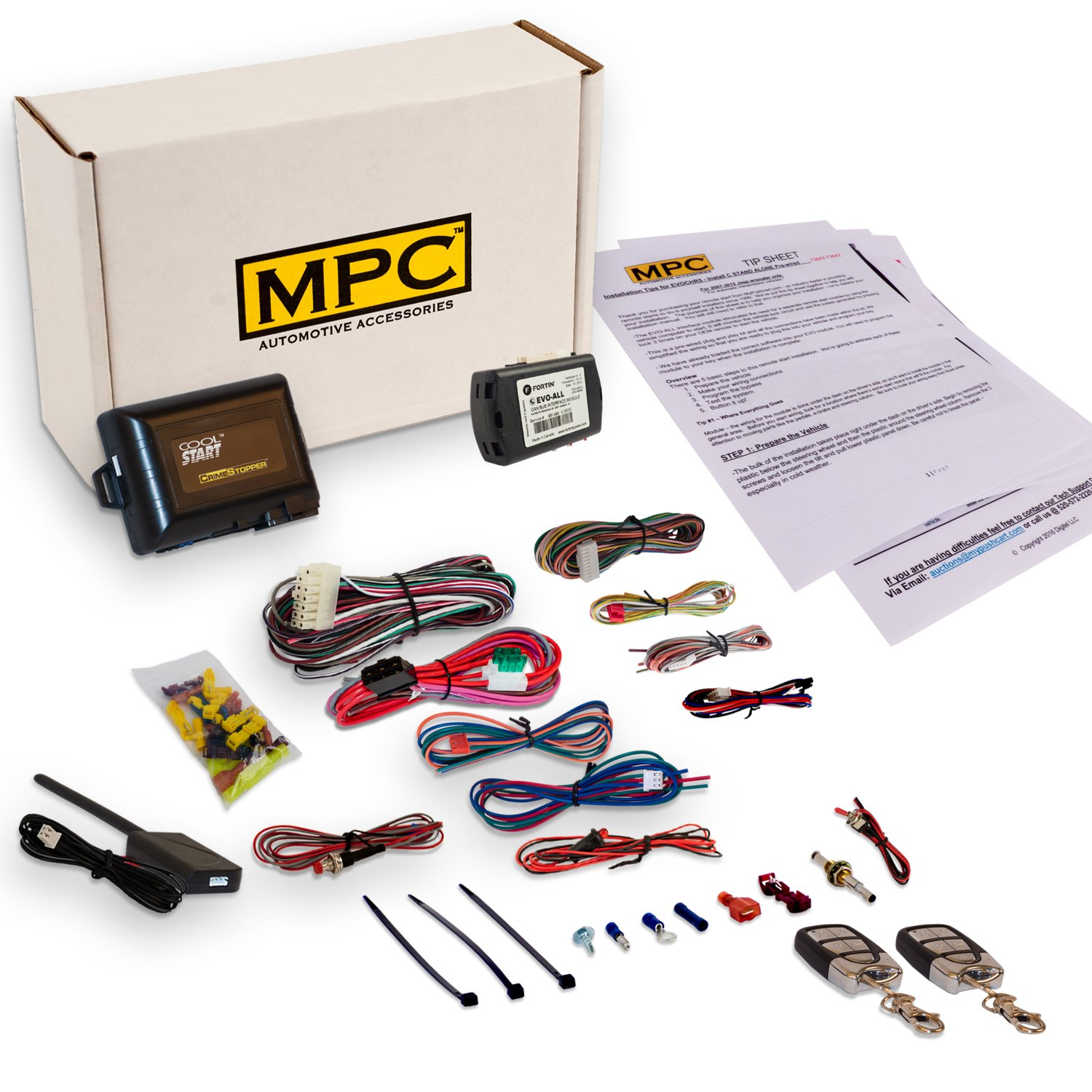 Complete Remote Start & Keyless Entry Kit Fits Select Honda & Acura [2003-2015]