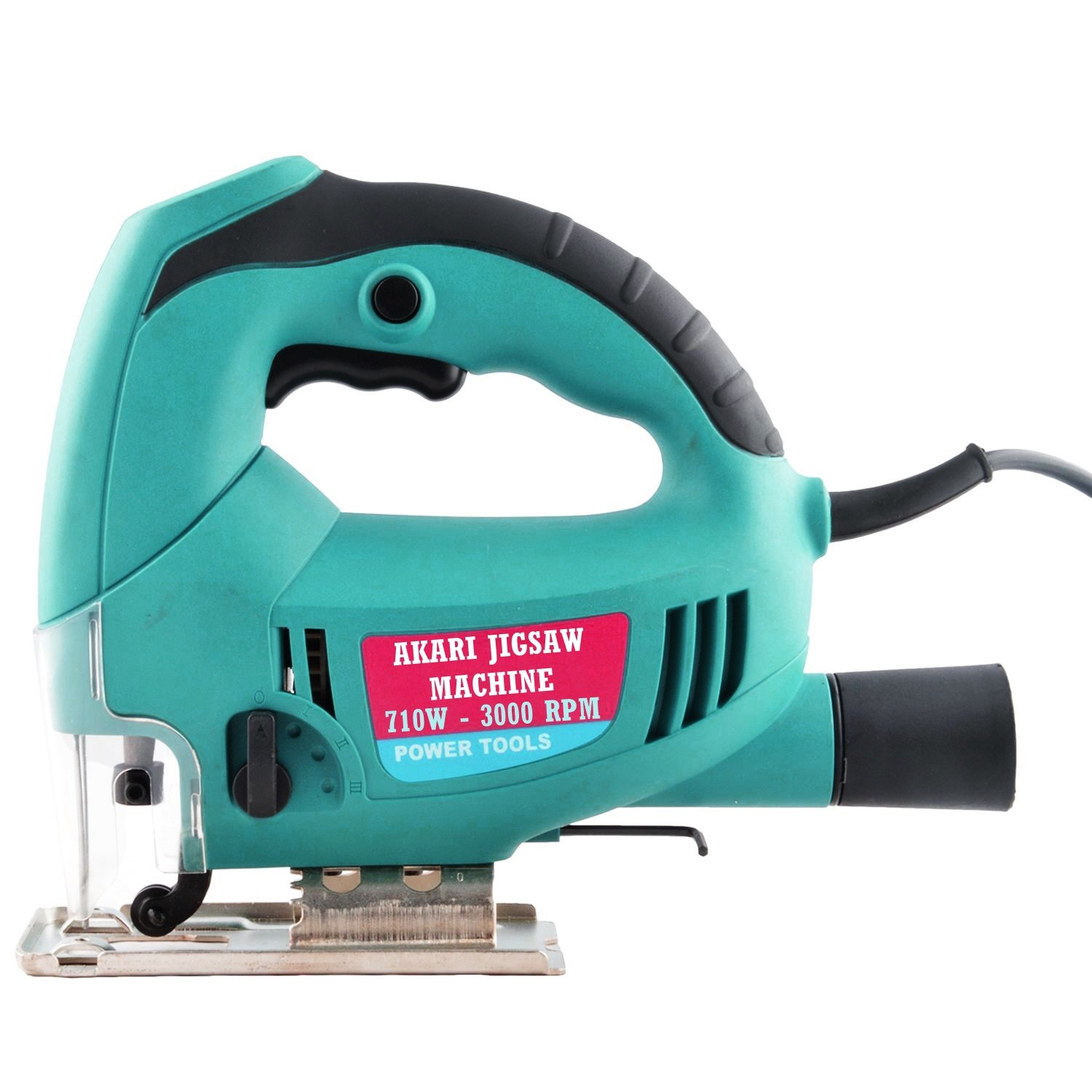 POWERTUFF, YOCA, AND FOREVER Tools and Hardware Powerful Jigsaw Machine with Variable Speed and 5 Pieces Blades for Metal, Aluminium and Wood Cutting (Green)