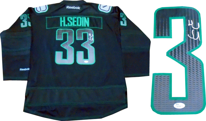 Henrik Sedin Autographed Vancouver Canucks Jersey (JSA) at Amazon s Sports  Collectibles Store ceb5f5e21