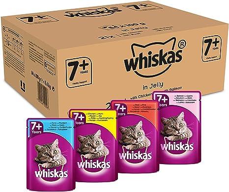 Whiskas Cat / Comida húmeda para gatos adultos 7+ Selección de ...