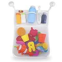 BOOGA BABY Badewannennetz für Badespielzeug | Badorganizer mit mehreren Taschen inkl. 4 Saugnäpfe für optimale Befestigung an Badewanne und Dusche