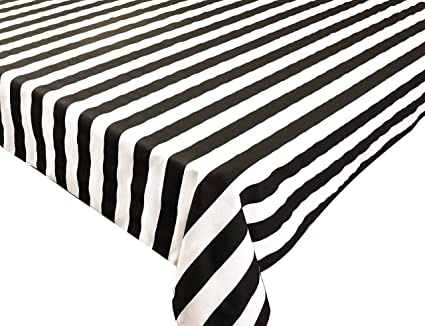 Square Tablecloths Black And White Striped Tablecloth Black Tablecloth  54u0026quot; ...