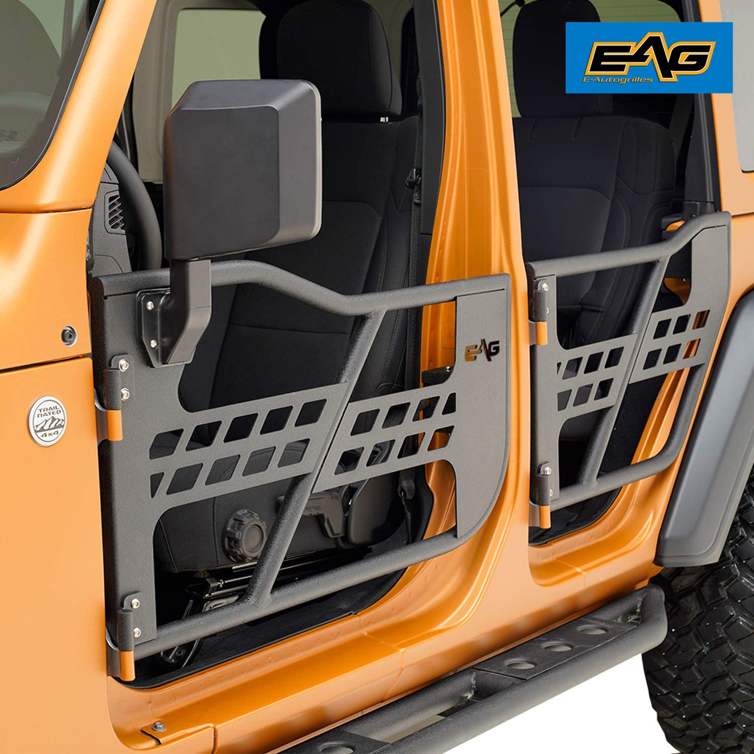 EAG Matrix Tubular Door Black with Side View Mirror Fit for 18-19 ...