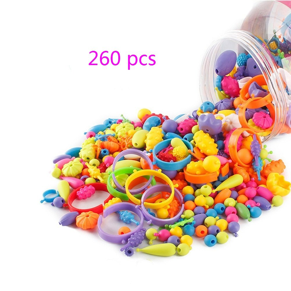 Looching 260 pcs Pop Beads Set DIY Jewelry Making Creative Kits Rings Necklace Bracelet Toys Art Crafts Gift Toys For Girls 4336812409
