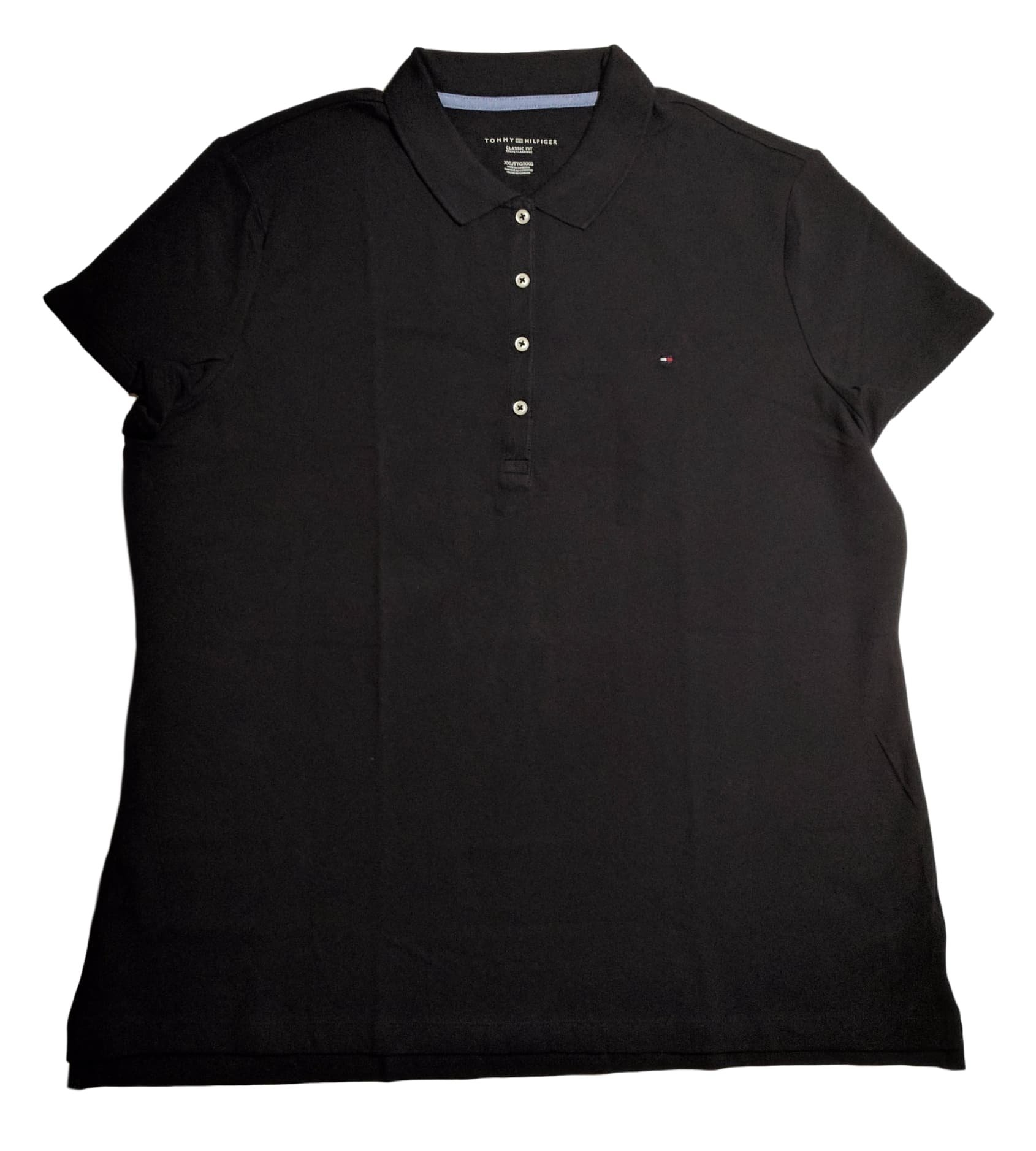 27d09659 Galleon - Tommy Hilfiger Womens Classic Fit Logo Polo T-Shirt (S, Black)