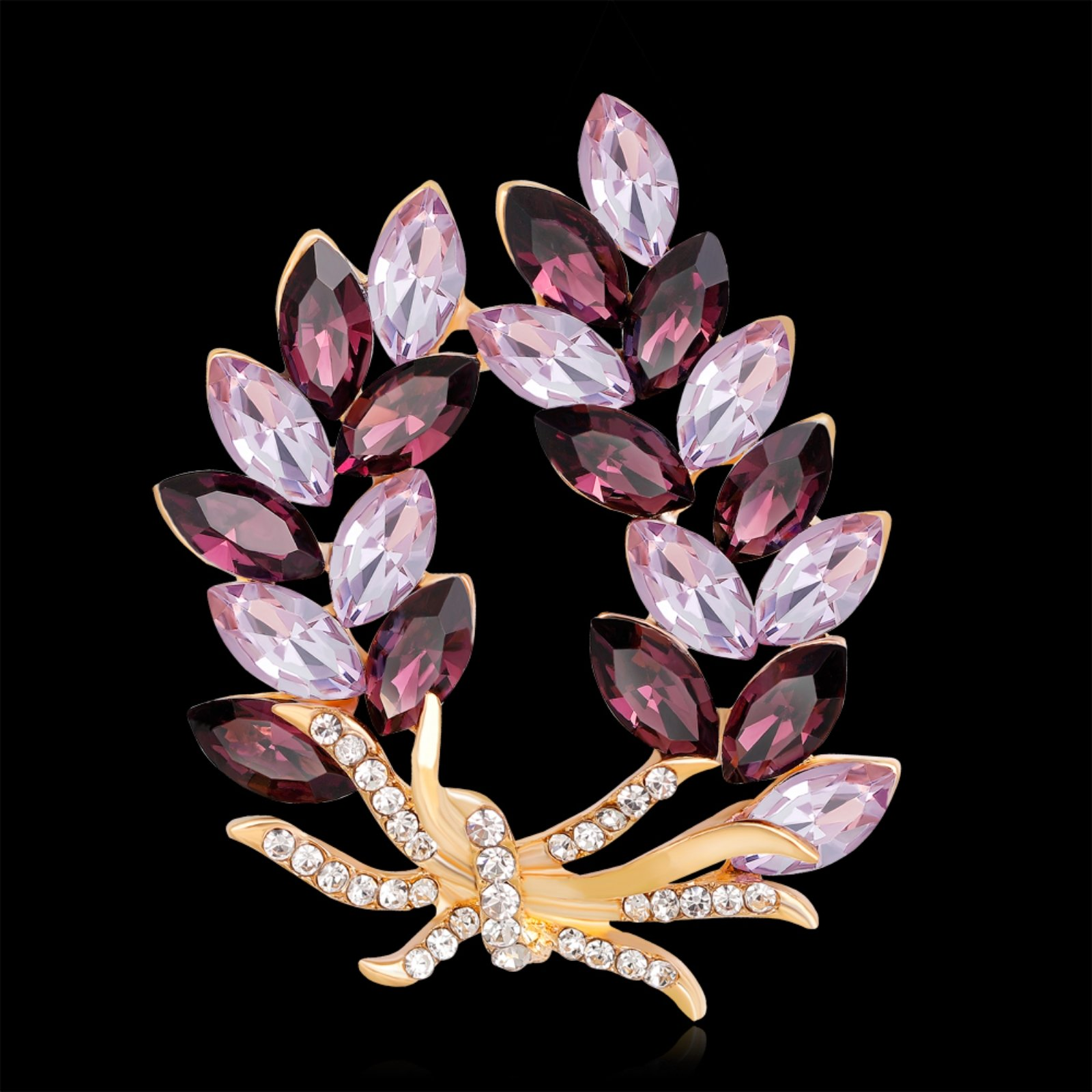 ptk12 Coat Accessories Purple Crystal Flower Casual Party Bouquets Rhinestone Brooch by ptk12 (Image #5)