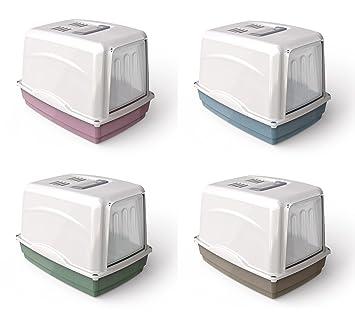 GEORPLAST W.C. Pet C/Filtro Vicky 54x39cm - Colores Surtidos: Amazon.es: Productos para mascotas