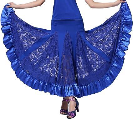 Mujer Profesional Falda de Encaje Grande Vestido de Baile De ...