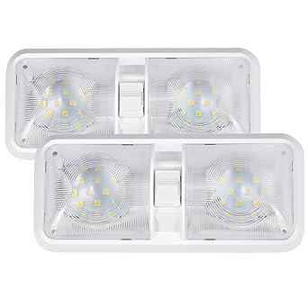 b467de4fc25 Kohree Pack x2 lámpara LED 12 V Bombilla lámpara de techo para coche luz  blanca luz