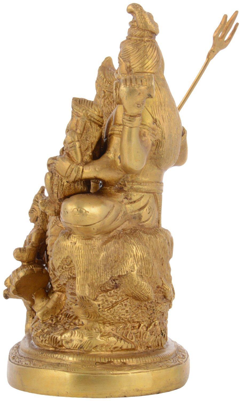 Kapasi Handicrafts Brass Lord Shiv Parivar Idol Big Statues (5.75'' x 3.75'' x 7.5'' Inch) by Kapasi Handicrafts Emporium Since 1973 (Image #3)