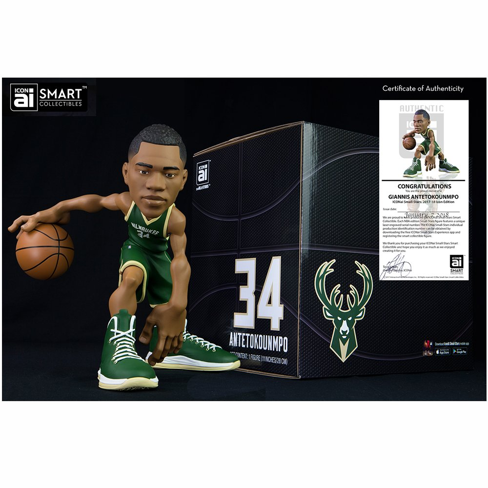 super popular 5facf 662bf Amazon.com: ICONai Small-Stars Giannis Antetokounmpo 11-inch ...