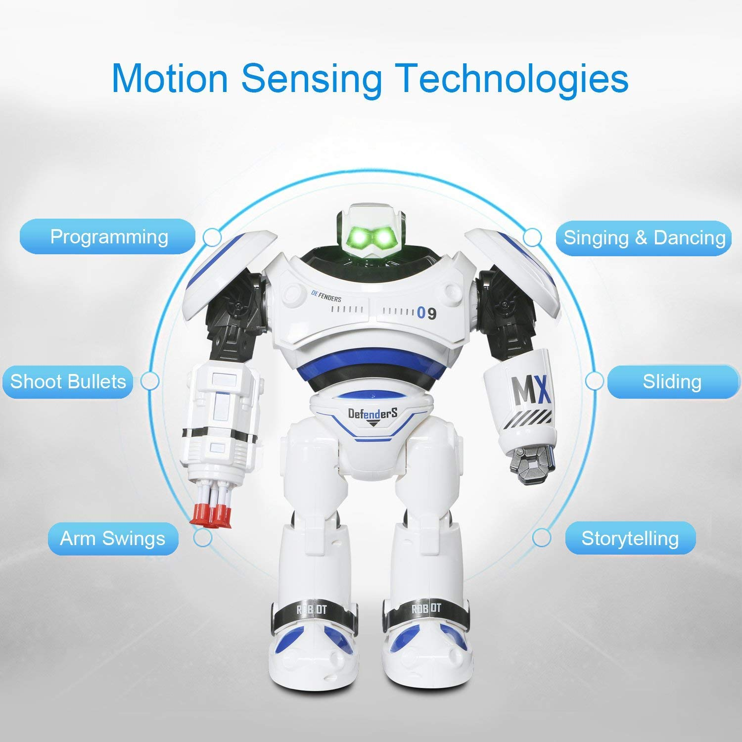 Large Robot Toy, Remote Control RC Combat Fighting Robot for Kids Birthday Present Gift, Dancing Shooting Infrared Sensing Robot for Kids Boy Girl by Toch (Image #3)