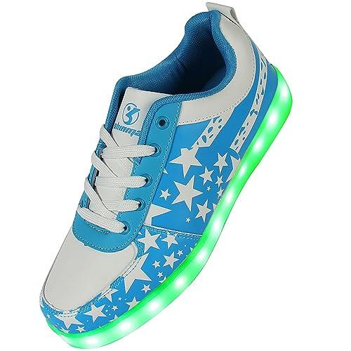 Shinmax - Zapatillas de Baloncesto de Piel para Niño Azul Azul, Color Azul, Talla 38 EU: Amazon.es: Zapatos y complementos