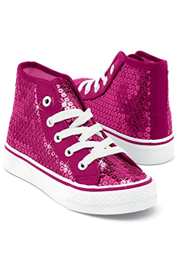 Amazon.com  Balera Sneakers Girls Shoes for Dance with Sequins High Top  Womens Lace Up Shoes  Shoes 90ee42ec5