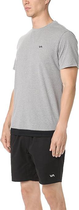 White RVCA Mens VA Sport Runner Mesh II SS Shirt
